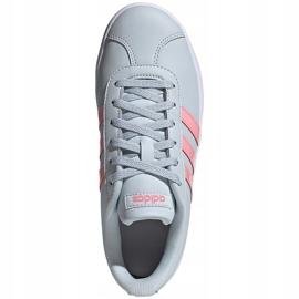 Buty dla dzieci adidas Vl Court 2.0 K niebiesko-różowe FY9151 niebieskie 2