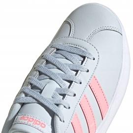 Buty dla dzieci adidas Vl Court 2.0 K niebiesko-różowe FY9151 niebieskie 4