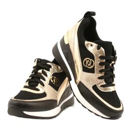 Evento Damskie Sneakersy Na Koturnie 21PB35-4001 Czarne Złote Roxette złoty 4