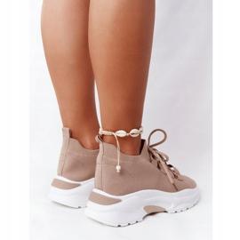 Damskie Sportowe Buty Skarpetkowe Beżowe KeSports beżowy 5