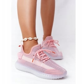 Damskie Sportowe Buty Na Żelowej Podeszwie Różowe Freestyler białe szare 1
