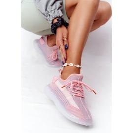 Damskie Sportowe Buty Na Żelowej Podeszwie Różowe Freestyler białe szare 5