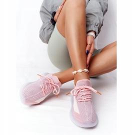 Damskie Sportowe Buty Na Żelowej Podeszwie Różowe Freestyler białe szare 3