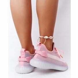 Damskie Sportowe Buty Na Żelowej Podeszwie Różowe Freestyler białe szare 4