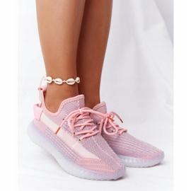 Damskie Sportowe Buty Na Żelowej Podeszwie Różowe Freestyler białe szare 2