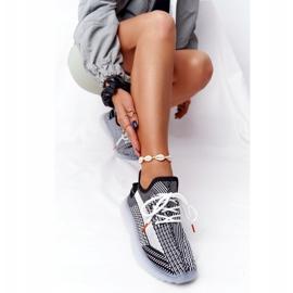 Sportowe Buty Na Żelowej Podeszwie Czarne Freestyler białe 5