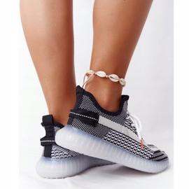 Sportowe Buty Na Żelowej Podeszwie Czarne Freestyler białe 3
