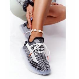 Sportowe Buty Na Żelowej Podeszwie Czarne Freestyler białe 4