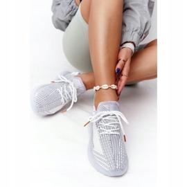 Damskie Sportowe Buty Na Żelowej Podeszwie Szare Freestyler białe 3