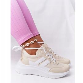 PS1 Damskie Sportowe Buty Sneakersy Beżowe Holiday beżowy białe 3