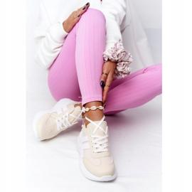 PS1 Damskie Sportowe Buty Sneakersy Beżowe Holiday beżowy białe 4