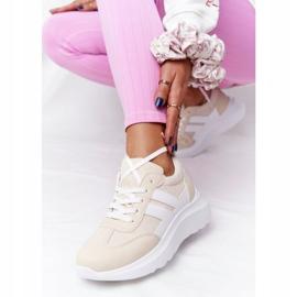 PS1 Damskie Sportowe Buty Sneakersy Beżowe Holiday beżowy białe 5