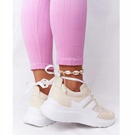 PS1 Damskie Sportowe Buty Sneakersy Beżowe Holiday beżowy białe 2