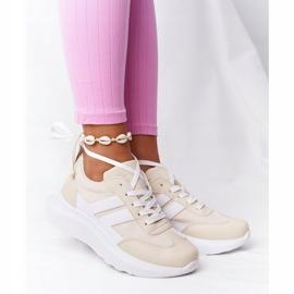 PS1 Damskie Sportowe Buty Sneakersy Beżowe Holiday beżowy białe 1