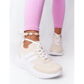 PS1 Damskie Sportowe Buty Sneakersy Beżowe Holiday beżowy białe 6