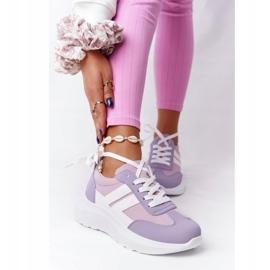 PS1 Damskie Sportowe Buty Sneakersy Fioletowe Holiday białe różowe 5