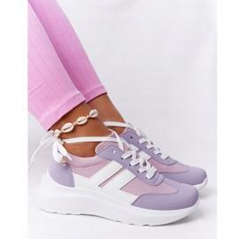 PS1 Damskie Sportowe Buty Sneakersy Fioletowe Holiday białe różowe 1