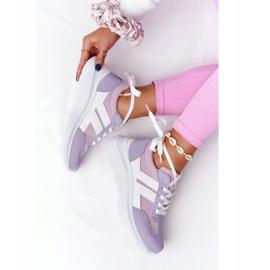PS1 Damskie Sportowe Buty Sneakersy Fioletowe Holiday białe różowe 4