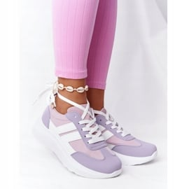 PS1 Damskie Sportowe Buty Sneakersy Fioletowe Holiday białe różowe 2