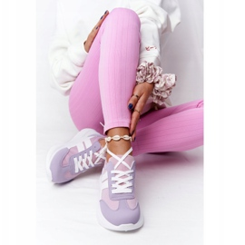 PS1 Damskie Sportowe Buty Sneakersy Fioletowe Holiday białe różowe 3