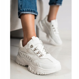 SHELOVET Białe Sneakersy 3