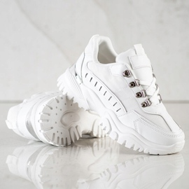 SHELOVET Białe Sneakersy 1