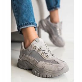 SHELOVET Szare Sneakersy 2