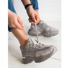SHELOVET Szare Sneakersy 1