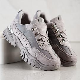 SHELOVET Szare Sneakersy 3