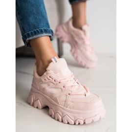 SHELOVET Różowe Sneakersy Fashion 3