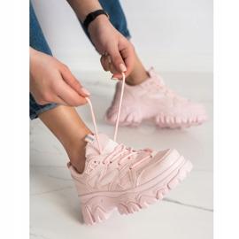 SHELOVET Różowe Sneakersy Fashion 2