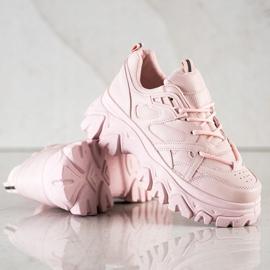 SHELOVET Różowe Sneakersy Fashion 1
