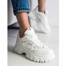 SHELOVET Białe Sneakersy Fashion 4