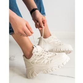 SHELOVET Beżowe Sneakersy Fashion brązowe 3