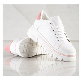 SHELOVET Białe Sneakersy Na Platformie 4