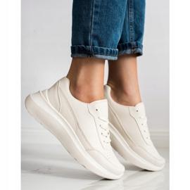 SHELOVET Klasyczne Sneakersy Z Eko Skóry beżowy 3