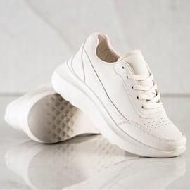 SHELOVET Klasyczne Sneakersy Z Eko Skóry beżowy 1