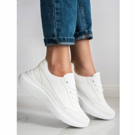 SHELOVET Klasyczne Sneakersy Z Eko Skóry białe 1