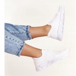Damskie Sportowe Buty Slip-on Big Star DD274460 Białe 8
