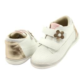 American Club Sportowe Buty Na Rzep GC06/21 Biało-Złote białe złoty 3