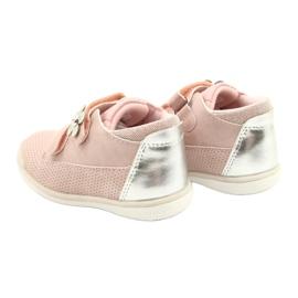American Club Sportowe Buty Na Rzep GC06/21 Różowe-Srebrne srebrny 5
