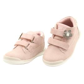 American Club Sportowe Buty Na Rzep GC06/21 Różowe-Srebrne srebrny 2