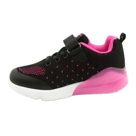 American Club Dziewczęce Buty Sportowe Na Rzep RL12/21 Czarne różowe 1