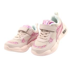 American Club Modne Halogeniczne Buty Sportowe ES23/21 różowe 2