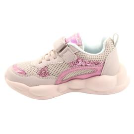 American Club Modne Halogeniczne Buty Sportowe ES23/21 różowe 1