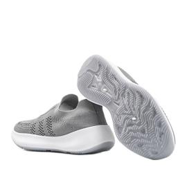 Szare obuwie sportowe z cyrkoniami Mia 2