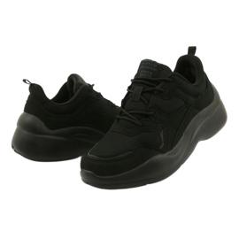 American Club Czarne Sportowe Buty Na Podeszwie EVA WT39 3