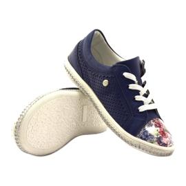 Granatowe buty dziecięce w kwiatki Bartek 85524 3