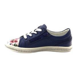 Granatowe buty dziecięce w kwiatki Bartek 85524 2
