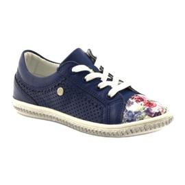 Granatowe buty dziecięce w kwiatki Bartek 85524 1
